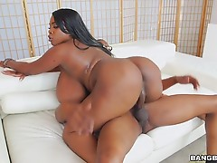Sex was wild, filled with throat gagging, titty fucking, pussy pounding and ended with jazz all over her chocolate melons.